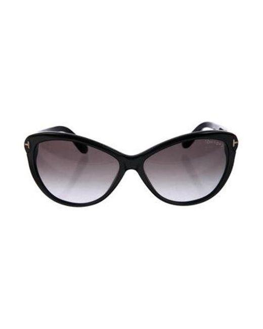 d1b32752885f9 Tom Ford - Metallic Telma Gradient Sunglasses Black - Lyst ...