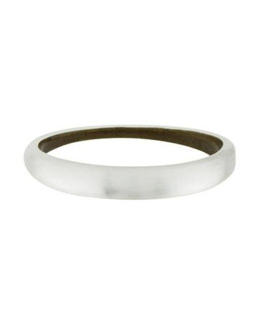 Alexis Bittar - Metallic Lucite Skinny Tapered Bangle Silver - Lyst