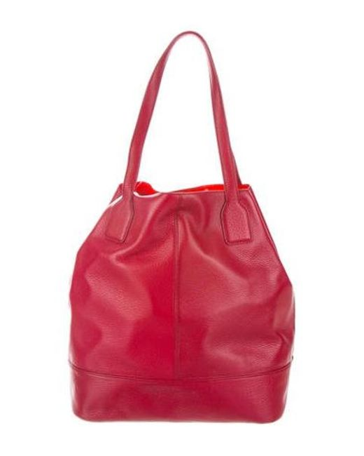c6c69098a86 ... Tory Burch - Metallic Leather Michelle Tote Red - Lyst