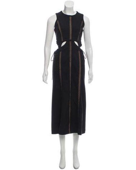 76bd40c24fb2 Self-Portrait - Black Cutout Maxi Dress - Lyst ...