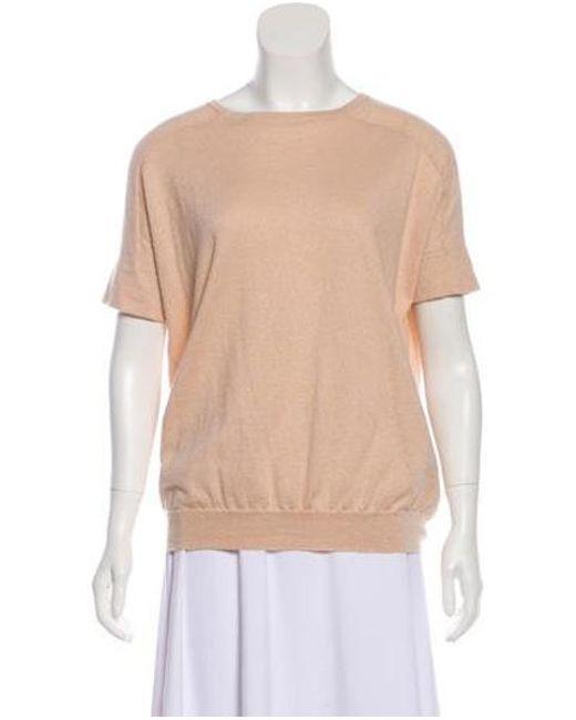 0010ac7bfb Brunello Cucinelli - Pink Cashmere   Silk Sweater - Lyst ...