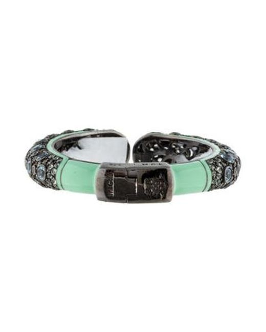 M.c.l  Matthew Campbell Laurenza - Metallic Blue Topaz And Sapphire Hinge Bracelet Silver - Lyst