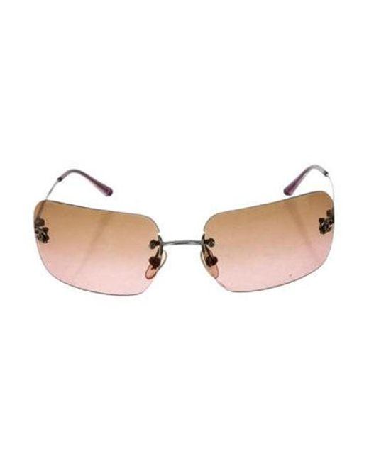 dda2d5ce93 Chanel - Metallic Rimless Cc Sunglasses Silver - Lyst ...