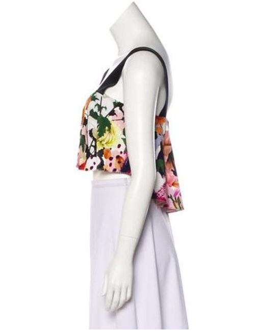 ca2d9998215012 ... Cushnie et Ochs - Floral Crop Top W  Tags Multicolor - Lyst ...