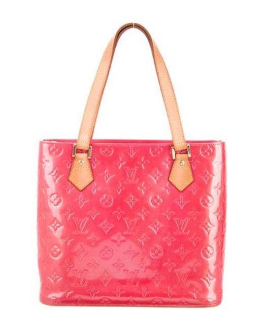 84c9967de7d9 Louis Vuitton - Natural Vernis Houston Tote Brass - Lyst ...
