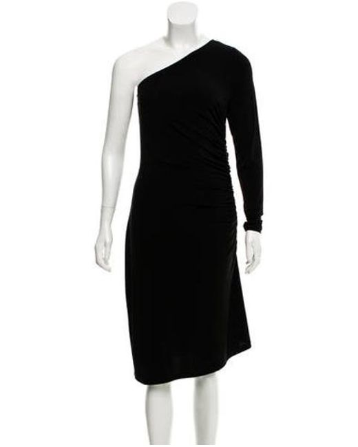 Lyst - Michael Michael Kors Michael Kors One Shoulder Evening Dress ...
