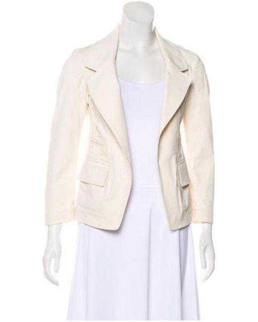 Donna Karan - Natural Canvas Notch-lapel Jacket Neutrals - Lyst