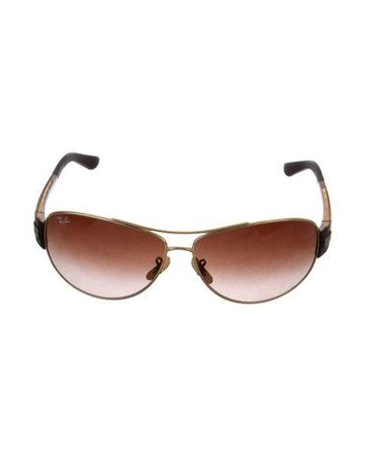4d49c3cd93 Ray-Ban - Metallic Round Tinted Sunglasses Gold - Lyst ...