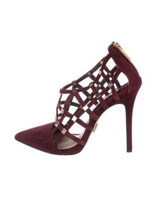 cacc9354fef9 Michael Kors - Metallic Suede Caged Pumps Gold - Lyst ...