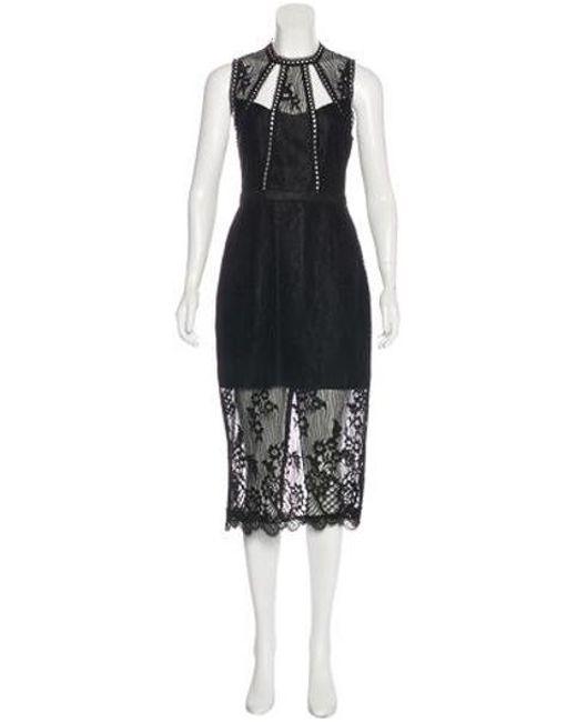 Alexis - Black Oralie Sleeveless Lace Midi Dress W/ Tags - Lyst