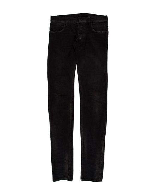 Balmain | Black Distressed Skinny Jeans for Men | Lyst