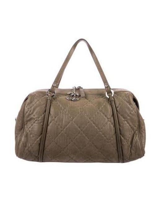 Chanel - Metallic Relax Cc Bowling Bag Silver - Lyst ... 17bf7b45cdc48