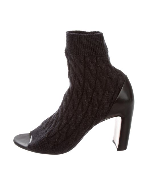 sale from china cheapest price sale online Maison Martin Margiela Metallic Peep-Toe Ankle Boots w/ Tags 0Dq6zKW3
