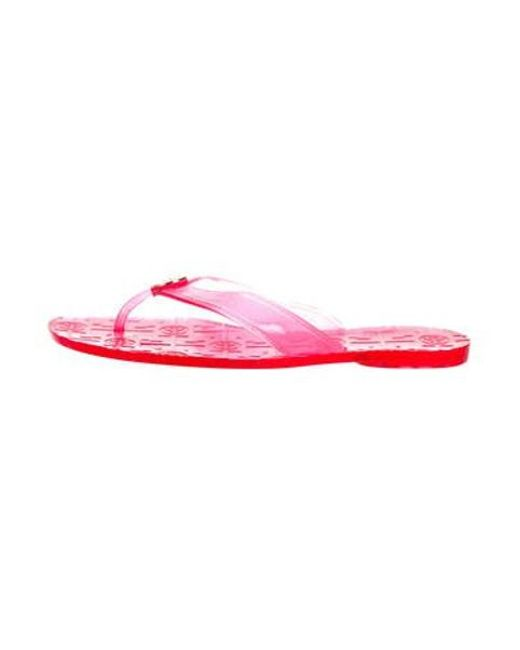 dede7f01ad4 Tory Burch - Metallic Jelly Thong Sandals Pink - Lyst ...