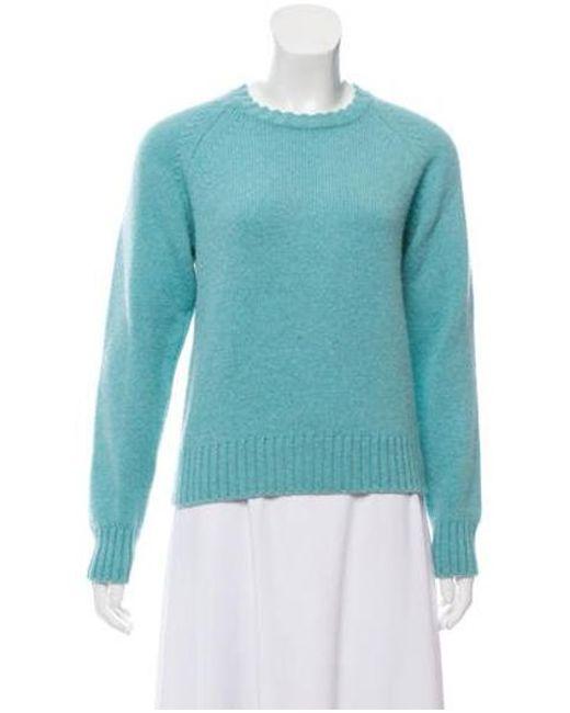 Knit c p Blue Sweater Wool Lyst A wg6qH8w