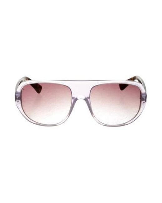 3.1 Phillip Lim - Metallic Newman Aviator Sunglasses Brown - Lyst