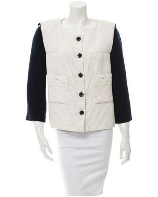 Chanel - Blue Colorblock Tweed Jacket Navy - Lyst