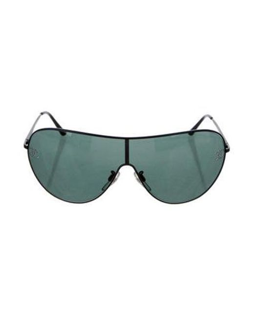 77adac1215575 Chanel - Black Crystal Shield Sunglasses - Lyst ...