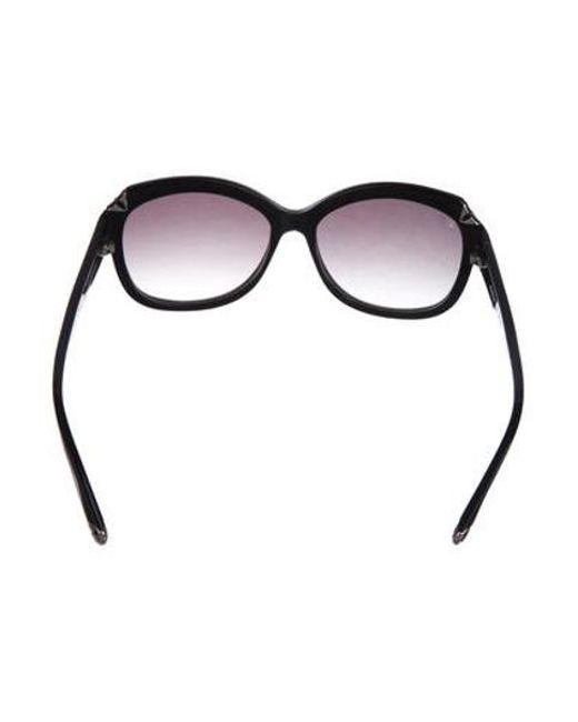 ac8e8eeb885 ... Louis Vuitton - Black Glitter Hortensia Sunglasses - Lyst ...