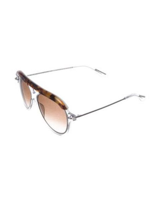 95f67b3ce78 ... Roland Mouret - Metallic Gradient Aviator Sunglasses Clear - Lyst ...