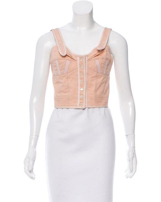 Louis Vuitton | White Sleeveless Crop Top Orange | Lyst