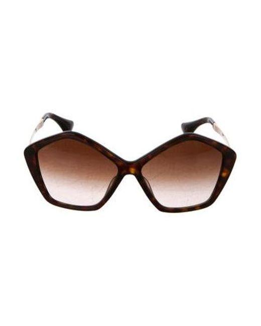 02f7d53017b Miu Miu - Brown Miu Gradient Oversize Sunglasses - Lyst ...