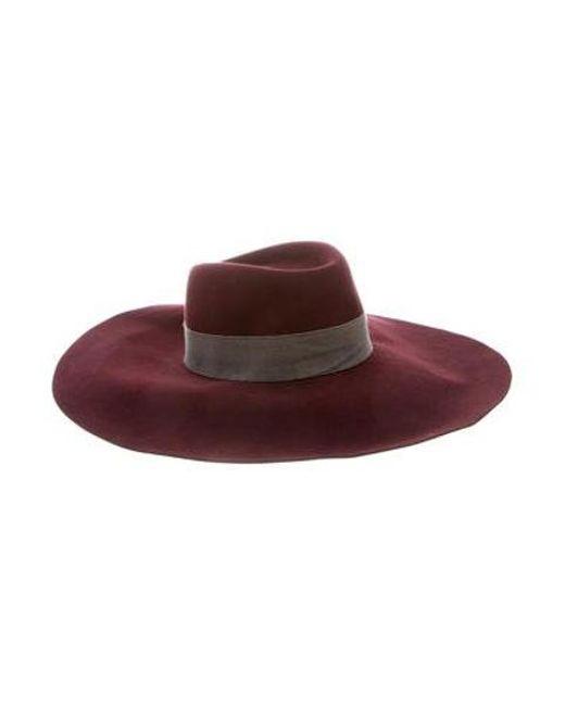 eaf5209e065 Maison Michel - Red Wide Brim Hat - Lyst ...