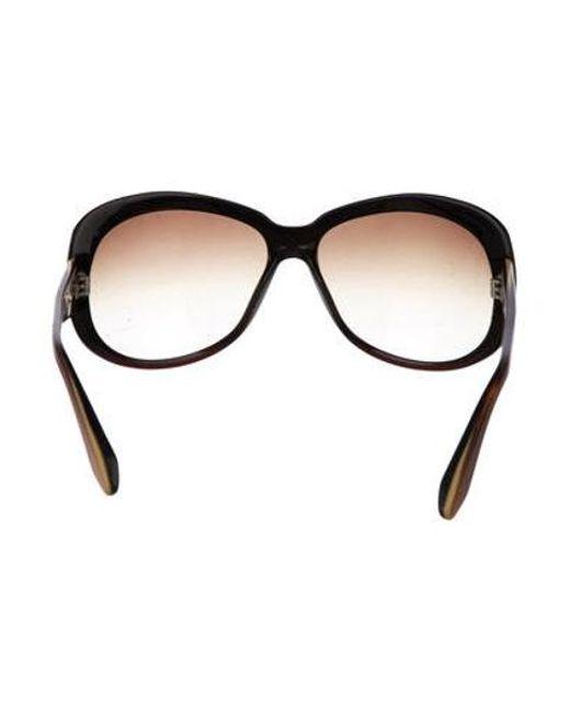 f6de2ba46a2 ... Dita - Metallic Ombré Oversize Sunglasses Brown - Lyst ...