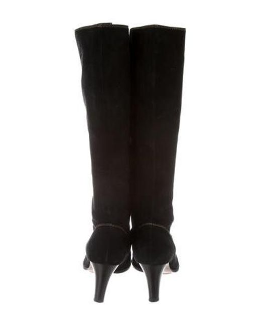 bd50a896ad9 ... Boutique Moschino - Brown Lace-up Knee-high Boots - Lyst