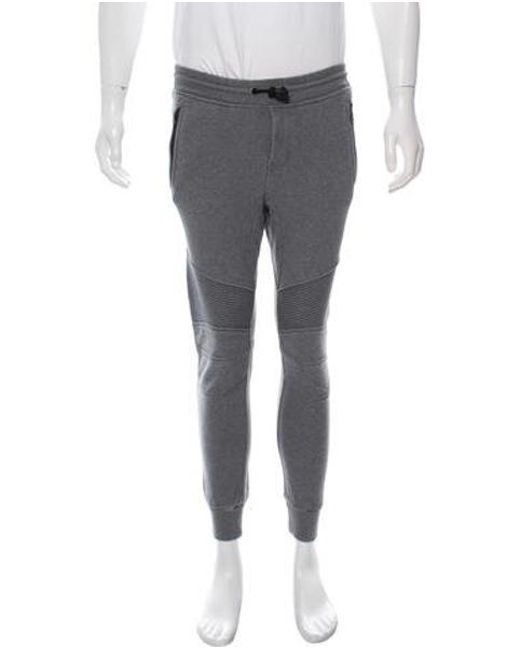 23c79245583e Belstaff - Gray Cropped Woven Joggers Grey for Men - Lyst ...