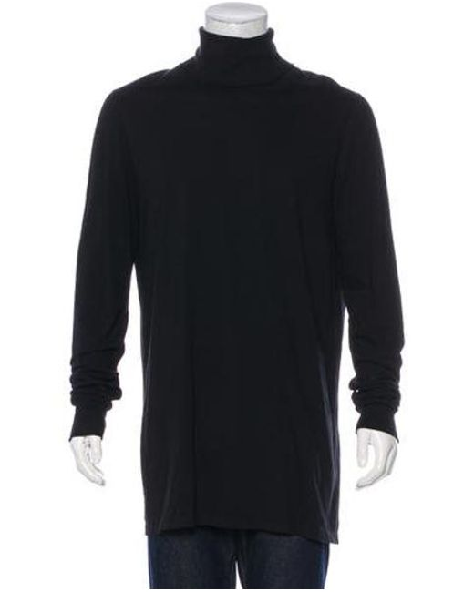 1453b7cb2c54 Rick Owens - Black Sphinx Turtleneck Sweater for Men - Lyst ...
