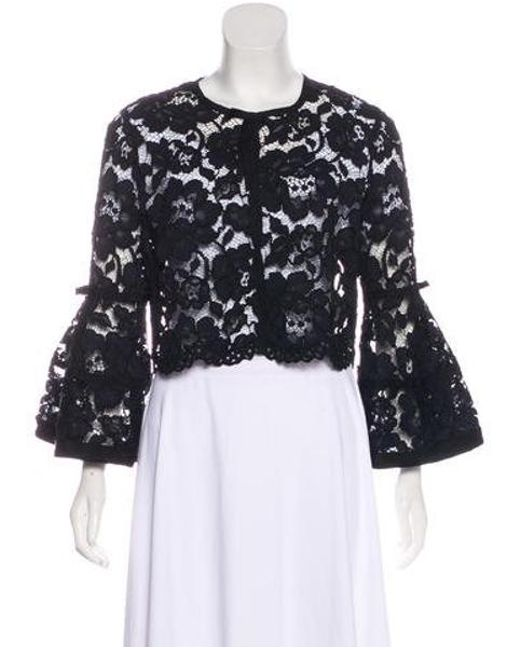 6ad770a0b4015 Lela Rose - Black Lace Bolero Jacket - Lyst ...