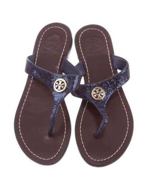 05c303a63c5fd ... Tory Burch - Metallic Reva Sandals - Lyst ...