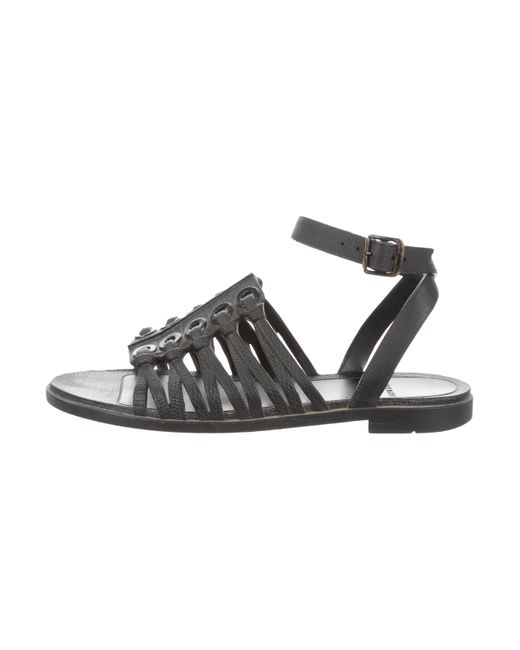 Givenchy - Black Rubber Ankle Strap Sandals - Lyst