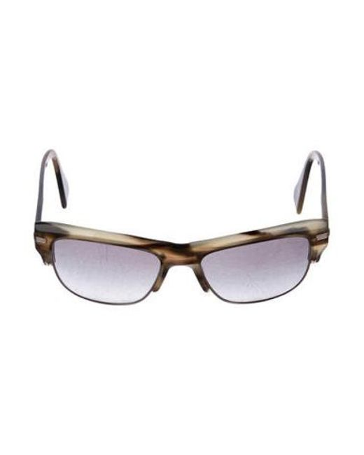 d4e8525ff03 Oliver Peoples - Brown Semi-rimless Sunglasses - Lyst ...