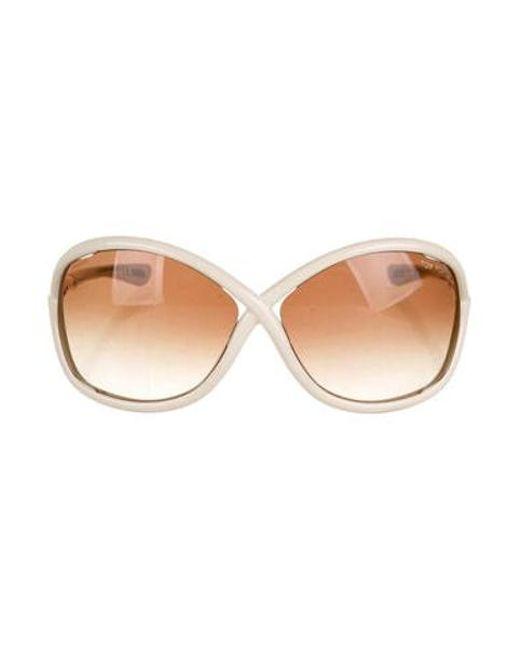 0f1c14d24b92 Tom Ford - Metallic Whitney Gradient Sunglasses Gold - Lyst ...