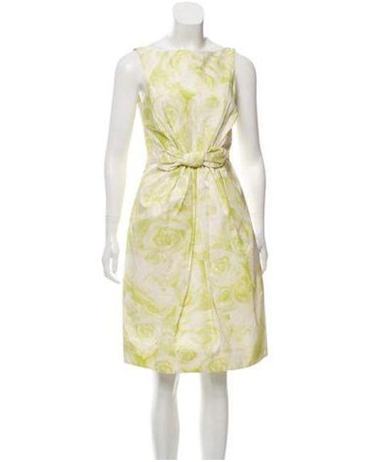 8069759f0c Giambattista Valli - Green Silk-blend Printed Dress - Lyst ...