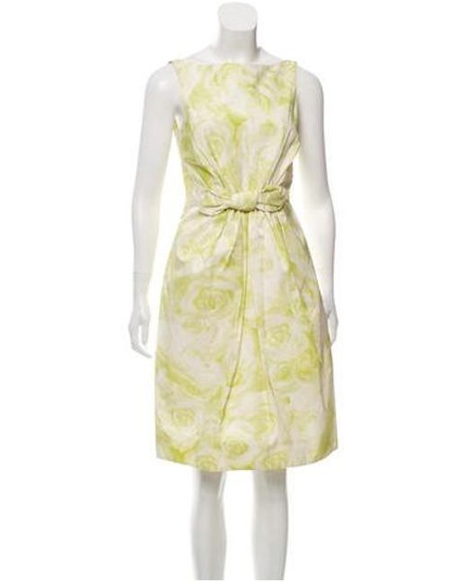 65becd36c4 Giambattista Valli - Green Silk-blend Printed Dress - Lyst ...