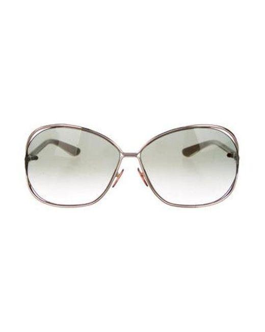 edca9e859b8 Tom Ford - Metallic Round Gradient Sunglasses Gold - Lyst ...