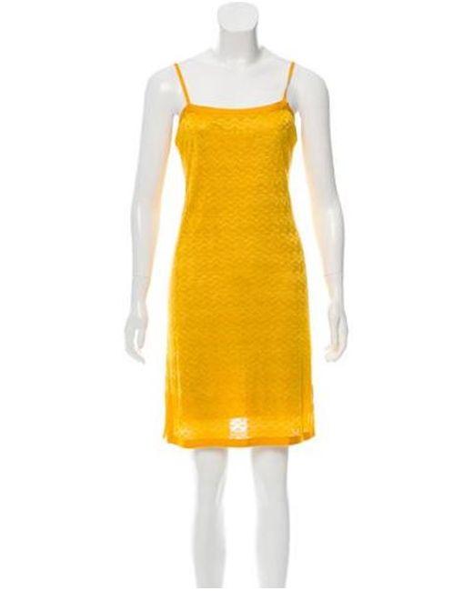 2a4609e559 Missoni Sport - Yellow Patterned Mini Dress - Lyst ...