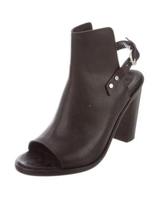 27bc24ea158 ... Lyst Rag   Bone - Metallic Leather Peep-toe Pumps Black ...