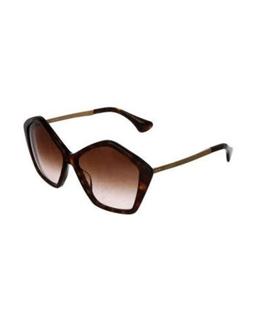 68b7751563d ... Miu Miu - Brown Miu Gradient Oversize Sunglasses - Lyst ...