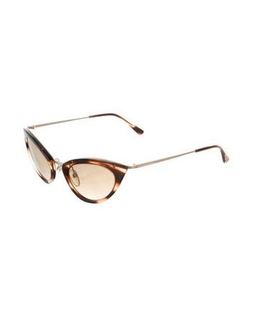 8855ba9ee6c ... Tom Ford - Metallic Grace Cat-eye Sunglasses Brown - Lyst ...