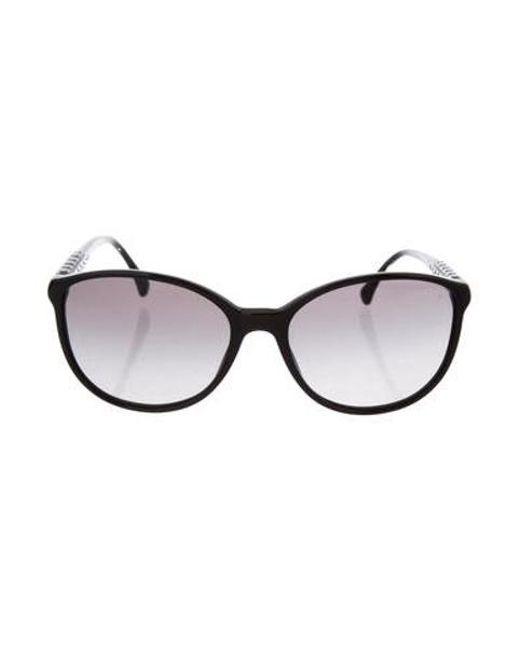 901001db830 Chanel - Black Embellished Cc Sunglasses - Lyst ...