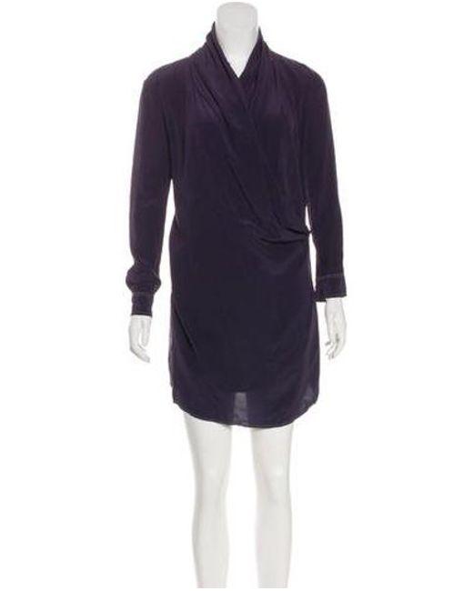 RED Valentino - Purple Silk Mini Dress Violet - Lyst