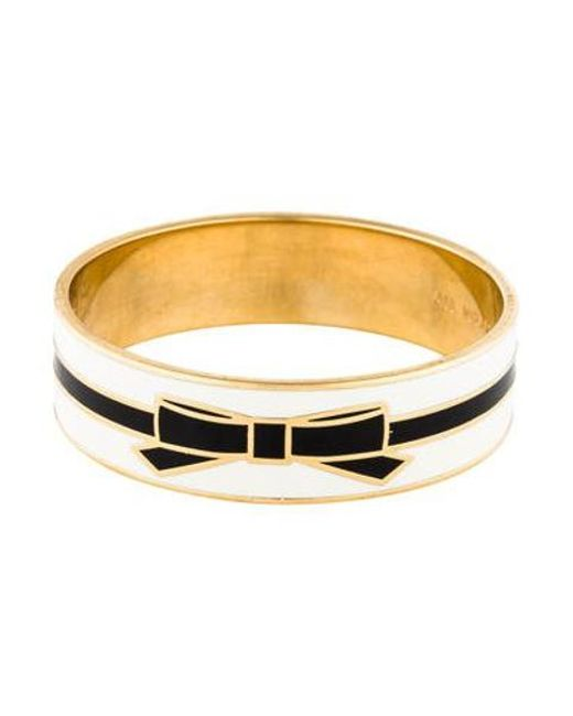 Kate Spade - Metallic All Wrapped Up Bangle Bracelet Gold - Lyst