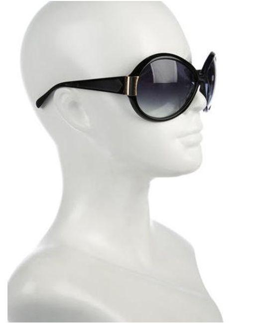 lyst oliver peoples harlot oversize sunglasses black in metallic Brown Women's Way Farer Ray Bans oliver peoples metallic harlot oversize sunglasses black lyst