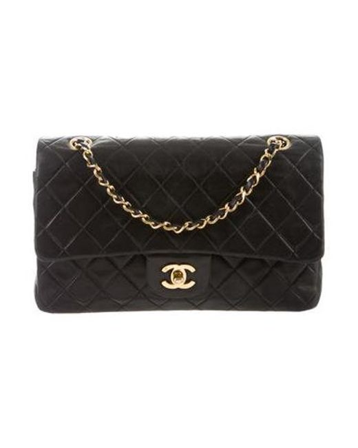 1d0efdf0265e Chanel - Metallic Classic Medium Double Flap Bag Black - Lyst ...
