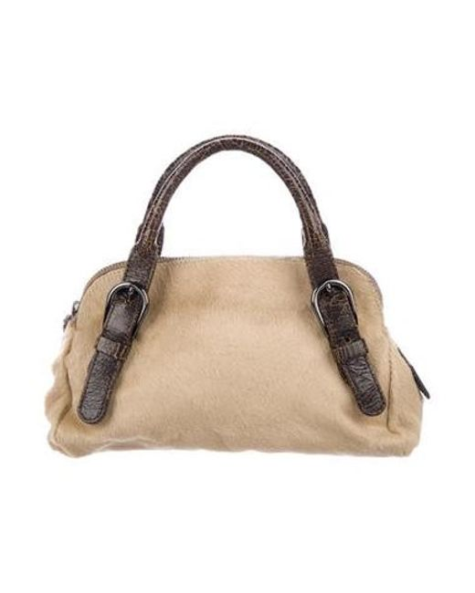 cf13f4ed6d88 Miu Miu - Natural Miu Ponyhair Handle Bag Tan - Lyst ...