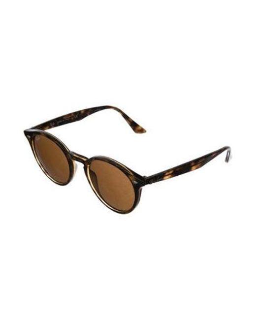 c1c24f78c0 ... Ray-Ban - Brown Round Tinted Sunglasses - Lyst ...
